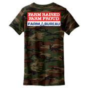 Ladies' Farm Raised Farm Proud Camouflage T-Shirt
