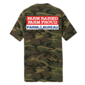 Farm Raised Farm Proud Camouflage T-Shirt